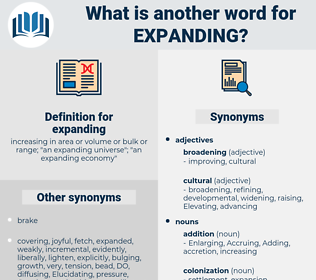 expanding, synonym expanding, another word for expanding, words like expanding, thesaurus expanding