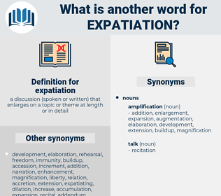 expatiation, synonym expatiation, another word for expatiation, words like expatiation, thesaurus expatiation
