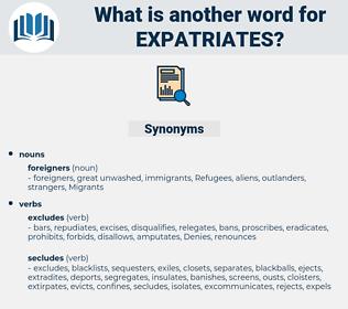 expatriates, synonym expatriates, another word for expatriates, words like expatriates, thesaurus expatriates