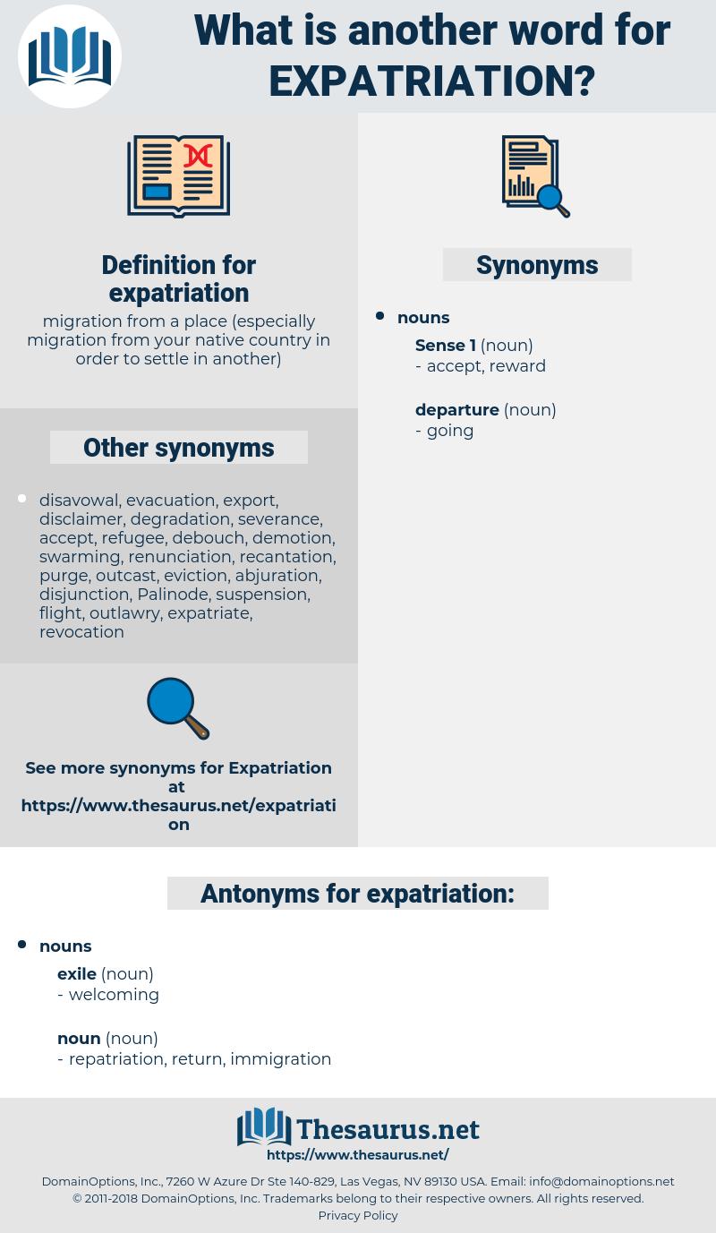 expatriation, synonym expatriation, another word for expatriation, words like expatriation, thesaurus expatriation