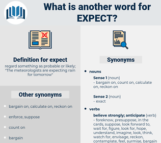 expect, synonym expect, another word for expect, words like expect, thesaurus expect