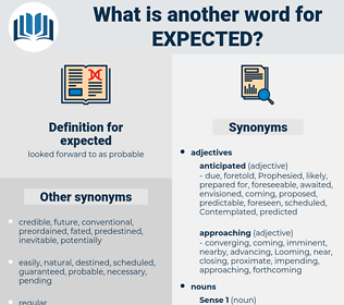 expected, synonym expected, another word for expected, words like expected, thesaurus expected