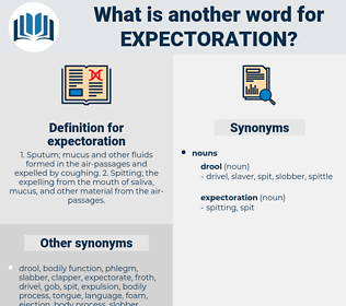 expectoration, synonym expectoration, another word for expectoration, words like expectoration, thesaurus expectoration