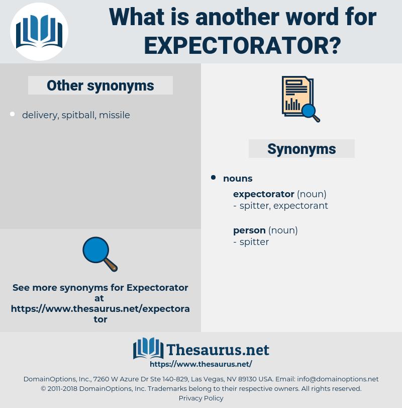 expectorator, synonym expectorator, another word for expectorator, words like expectorator, thesaurus expectorator