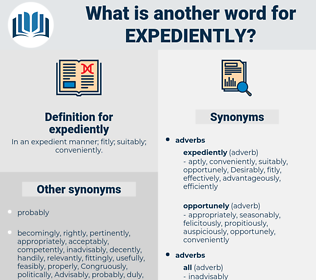 expediently, synonym expediently, another word for expediently, words like expediently, thesaurus expediently