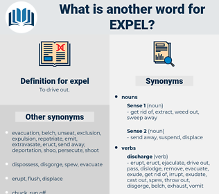 expel, synonym expel, another word for expel, words like expel, thesaurus expel