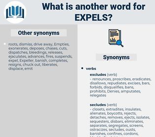 expels, synonym expels, another word for expels, words like expels, thesaurus expels
