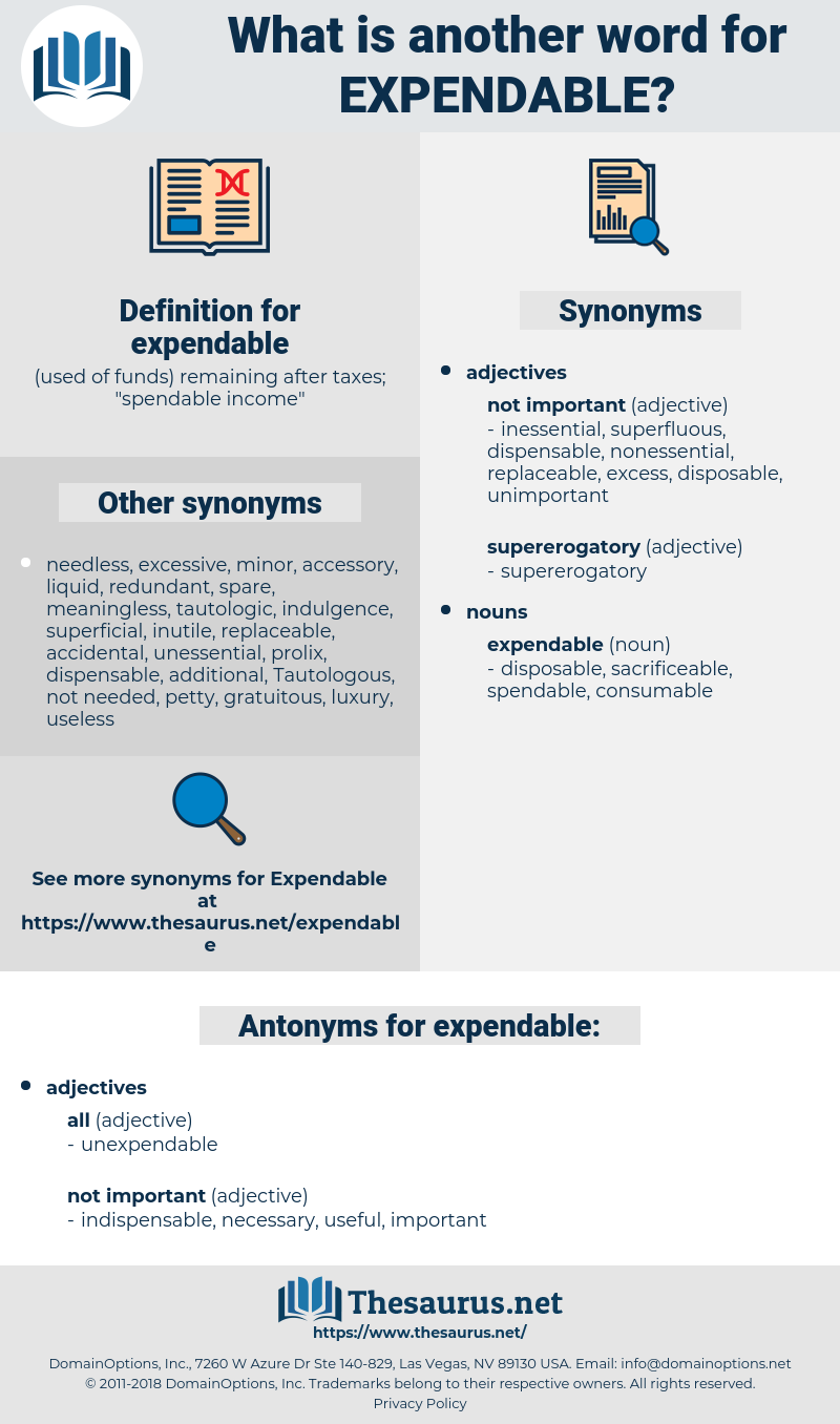 expendable, synonym expendable, another word for expendable, words like expendable, thesaurus expendable