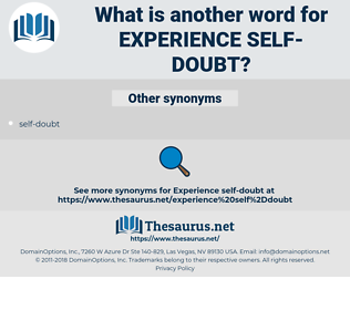 experience self-doubt, synonym experience self-doubt, another word for experience self-doubt, words like experience self-doubt, thesaurus experience self-doubt