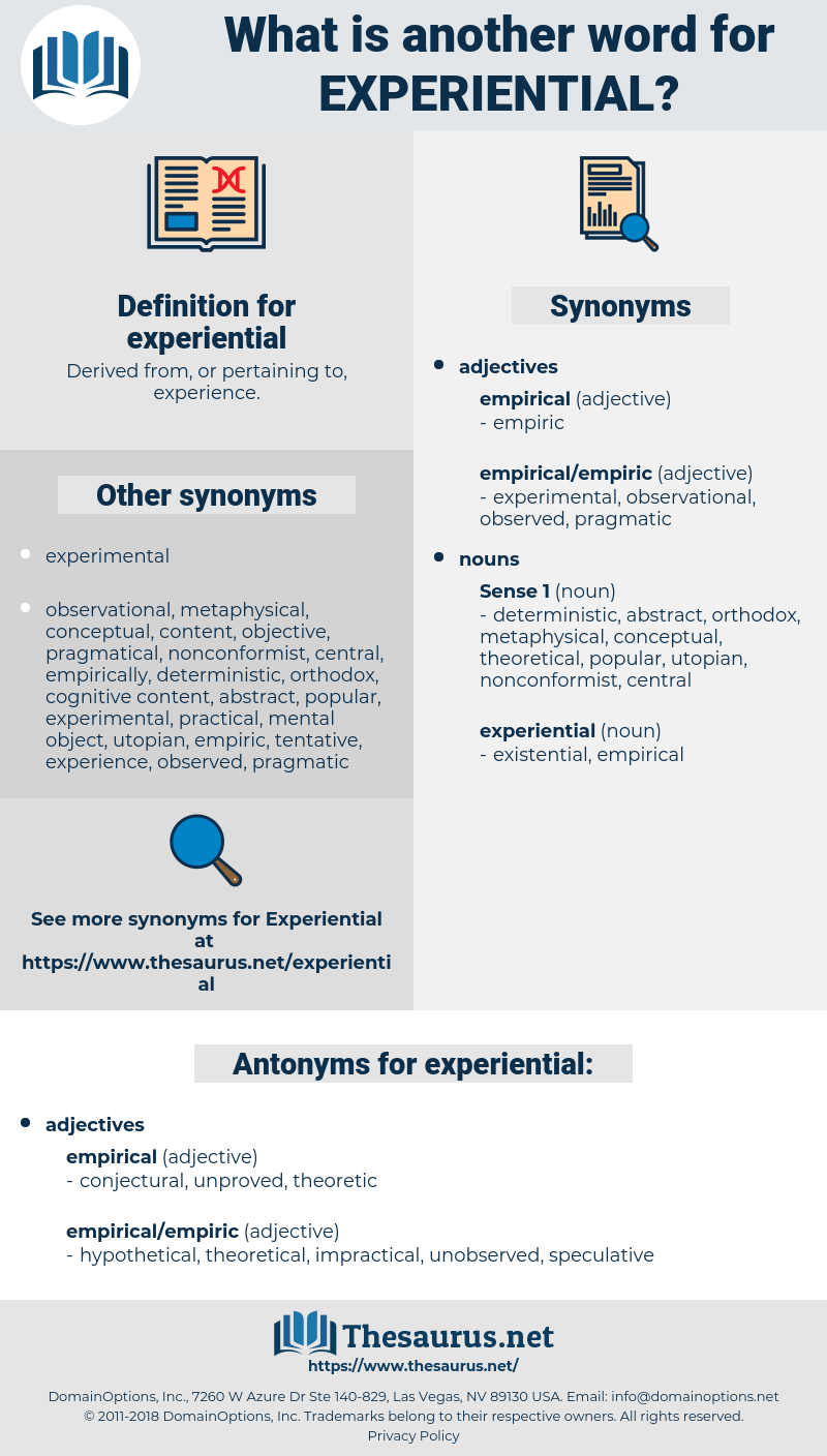 experiential, synonym experiential, another word for experiential, words like experiential, thesaurus experiential