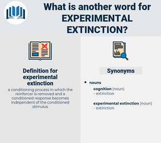 experimental extinction, synonym experimental extinction, another word for experimental extinction, words like experimental extinction, thesaurus experimental extinction