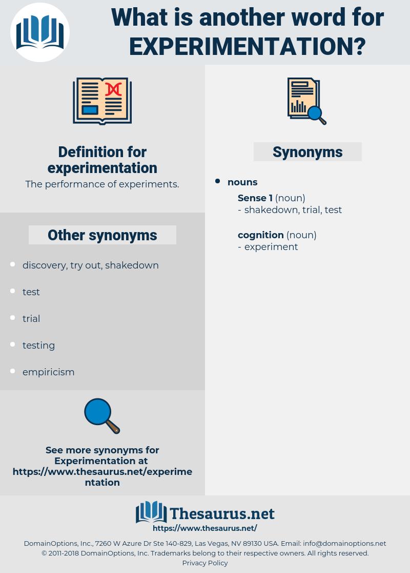 experimentation, synonym experimentation, another word for experimentation, words like experimentation, thesaurus experimentation