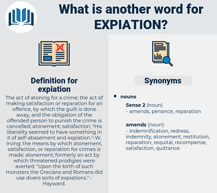 expiation, synonym expiation, another word for expiation, words like expiation, thesaurus expiation