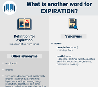 expiration, synonym expiration, another word for expiration, words like expiration, thesaurus expiration