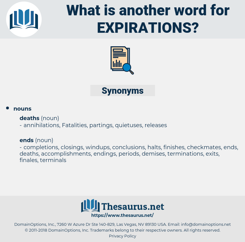 expirations, synonym expirations, another word for expirations, words like expirations, thesaurus expirations