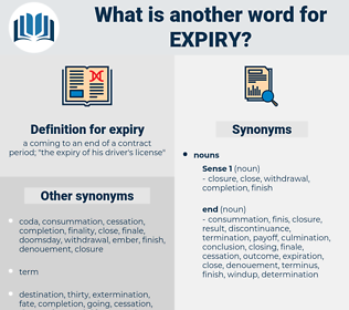 expiry, synonym expiry, another word for expiry, words like expiry, thesaurus expiry