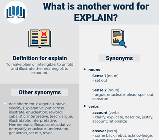 explain, synonym explain, another word for explain, words like explain, thesaurus explain