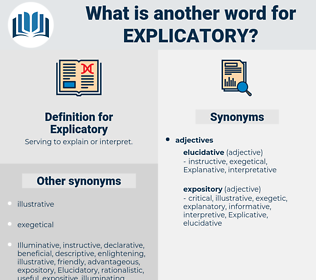 Explicatory, synonym Explicatory, another word for Explicatory, words like Explicatory, thesaurus Explicatory