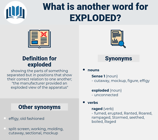 exploded, synonym exploded, another word for exploded, words like exploded, thesaurus exploded