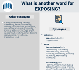 Exposing, synonym Exposing, another word for Exposing, words like Exposing, thesaurus Exposing