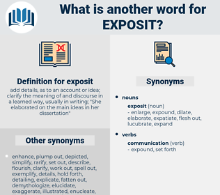 exposit, synonym exposit, another word for exposit, words like exposit, thesaurus exposit