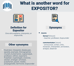 Expositor, synonym Expositor, another word for Expositor, words like Expositor, thesaurus Expositor