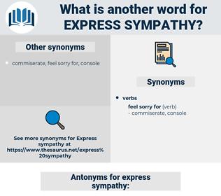 express sympathy, synonym express sympathy, another word for express sympathy, words like express sympathy, thesaurus express sympathy