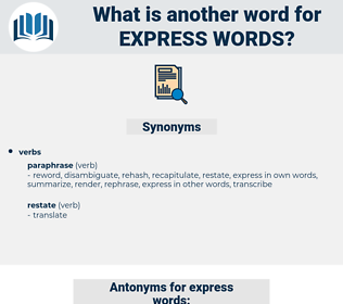 express words, synonym express words, another word for express words, words like express words, thesaurus express words
