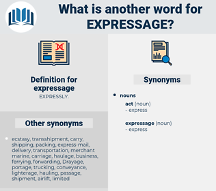 expressage, synonym expressage, another word for expressage, words like expressage, thesaurus expressage