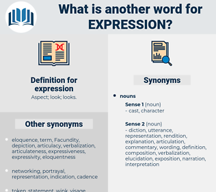 expression, synonym expression, another word for expression, words like expression, thesaurus expression