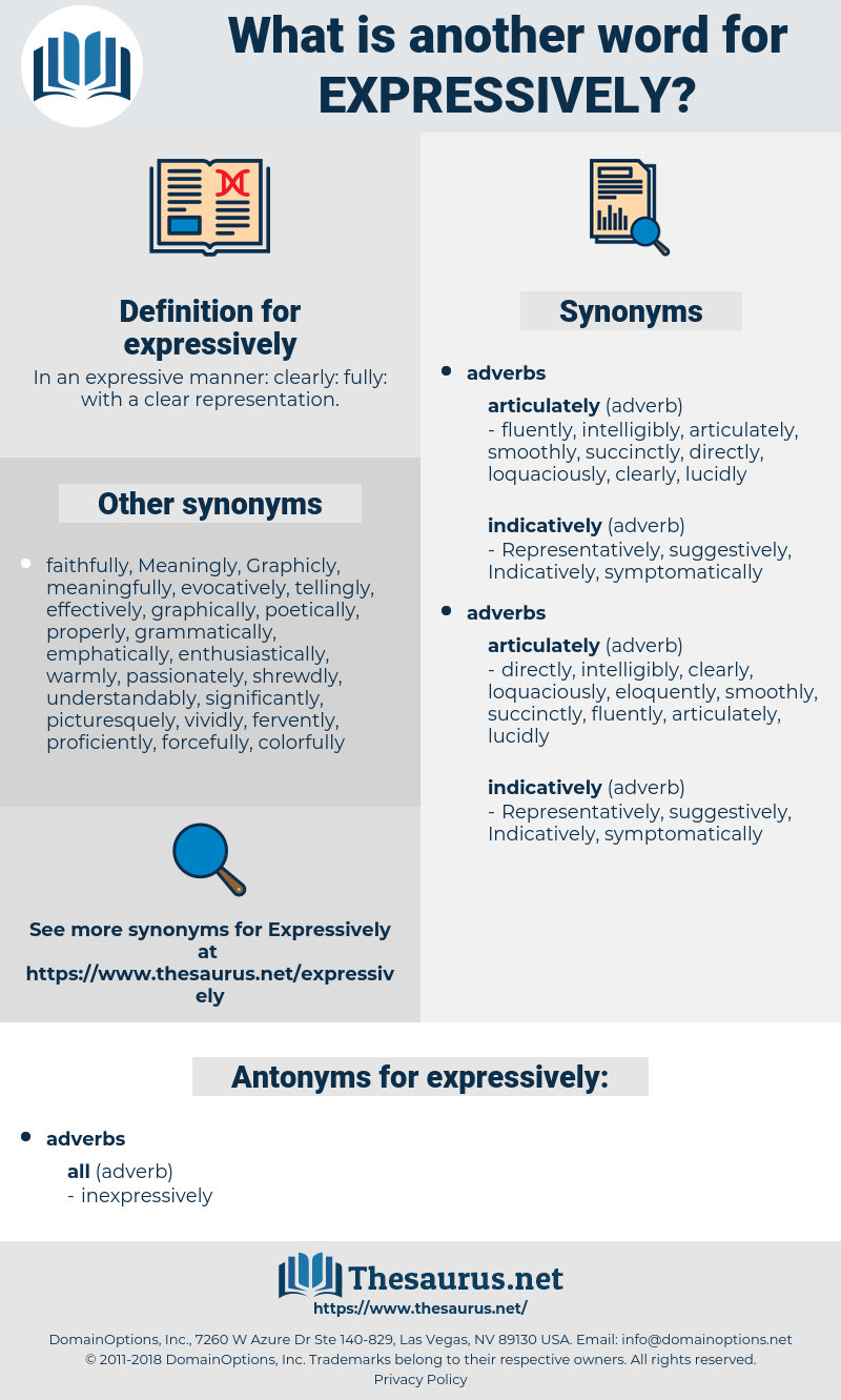 expressively, synonym expressively, another word for expressively, words like expressively, thesaurus expressively