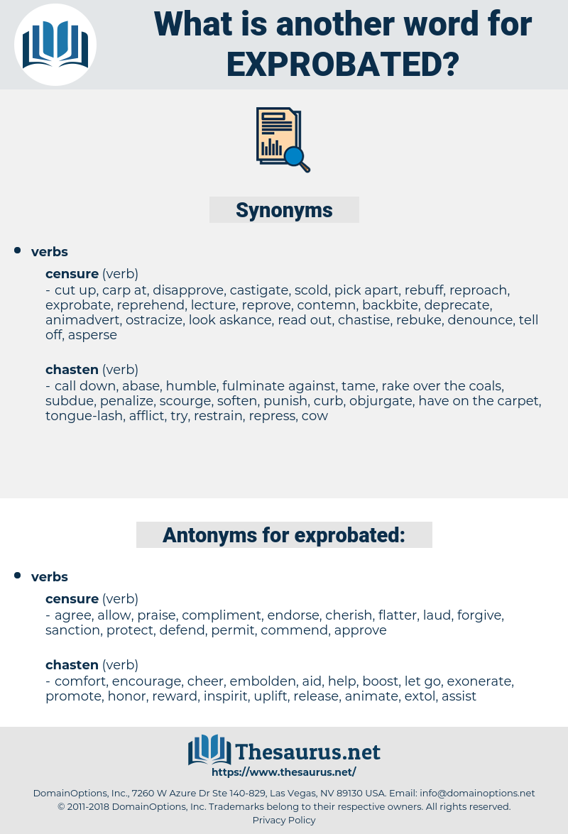 exprobated, synonym exprobated, another word for exprobated, words like exprobated, thesaurus exprobated