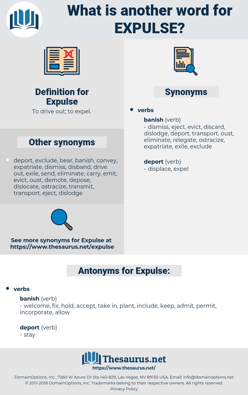 Expulse, synonym Expulse, another word for Expulse, words like Expulse, thesaurus Expulse