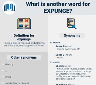 expunge, synonym expunge, another word for expunge, words like expunge, thesaurus expunge