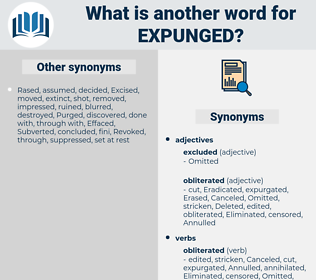 Expunged, synonym Expunged, another word for Expunged, words like Expunged, thesaurus Expunged