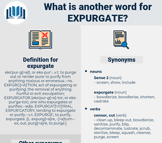 expurgate, synonym expurgate, another word for expurgate, words like expurgate, thesaurus expurgate