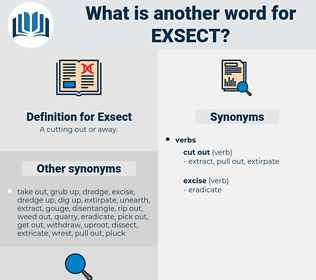 Exsect, synonym Exsect, another word for Exsect, words like Exsect, thesaurus Exsect
