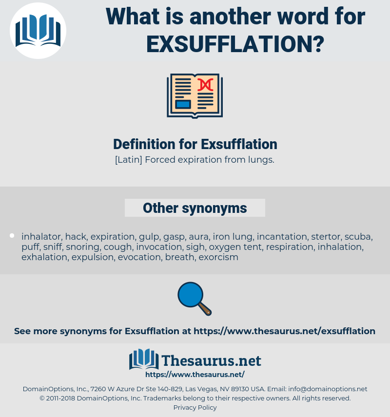 Exsufflation, synonym Exsufflation, another word for Exsufflation, words like Exsufflation, thesaurus Exsufflation