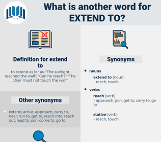 extend to, synonym extend to, another word for extend to, words like extend to, thesaurus extend to