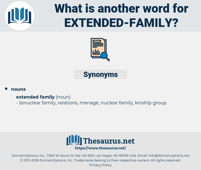 extended family, synonym extended family, another word for extended family, words like extended family, thesaurus extended family