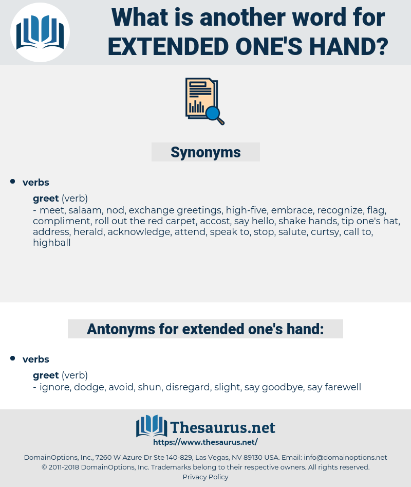 extended one's hand, synonym extended one's hand, another word for extended one's hand, words like extended one's hand, thesaurus extended one's hand