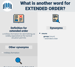 extended order, synonym extended order, another word for extended order, words like extended order, thesaurus extended order