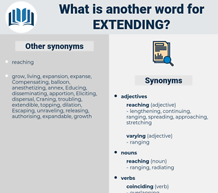 Extending, synonym Extending, another word for Extending, words like Extending, thesaurus Extending