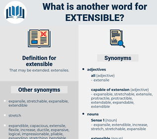 extensible, synonym extensible, another word for extensible, words like extensible, thesaurus extensible