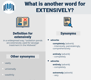 extensively, synonym extensively, another word for extensively, words like extensively, thesaurus extensively