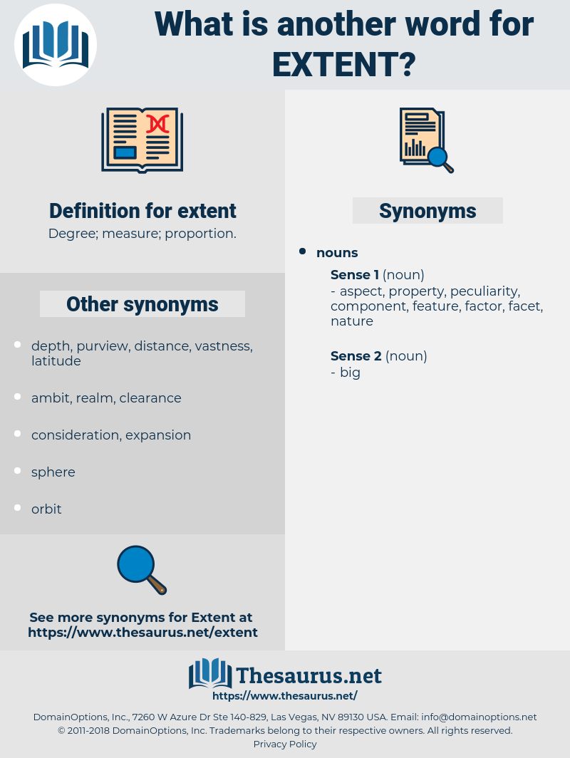 extent, synonym extent, another word for extent, words like extent, thesaurus extent