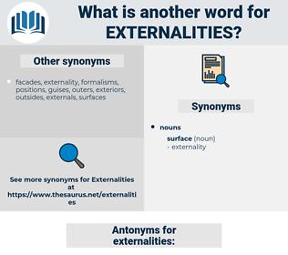 externalities, synonym externalities, another word for externalities, words like externalities, thesaurus externalities