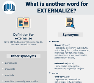 externalize, synonym externalize, another word for externalize, words like externalize, thesaurus externalize
