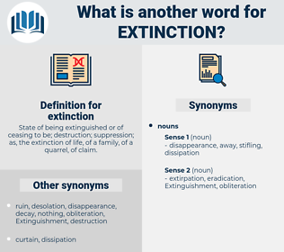extinction, synonym extinction, another word for extinction, words like extinction, thesaurus extinction