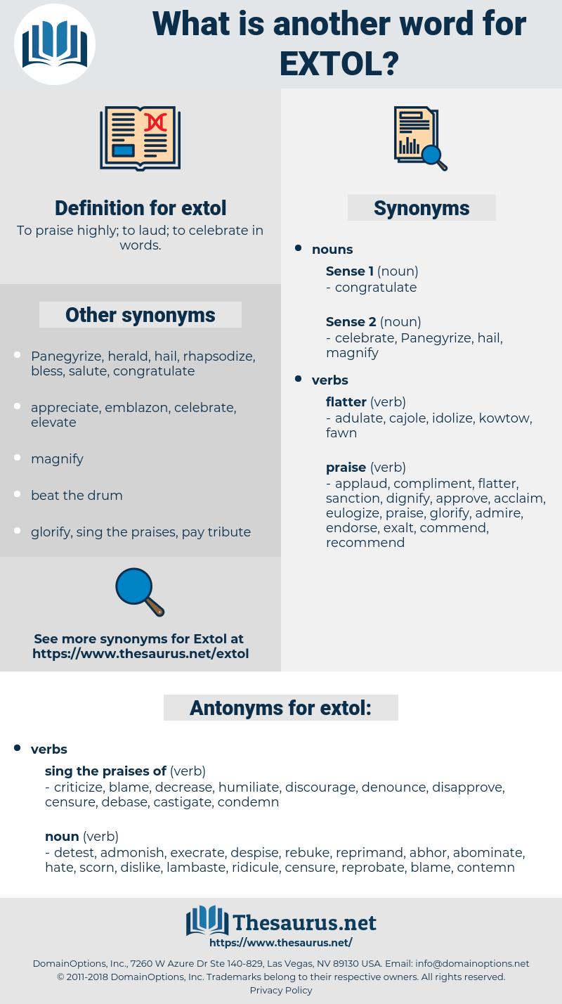 extol, synonym extol, another word for extol, words like extol, thesaurus extol